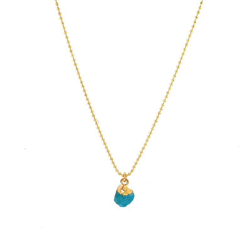 Abigail Aquamarine Necklace - Gold