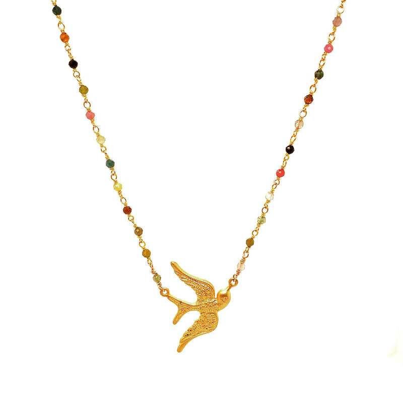 Lady Dove Tormaline necklace - Gold