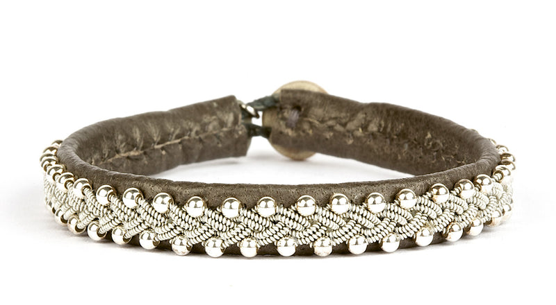 Inga Silver Beads Croco Grey