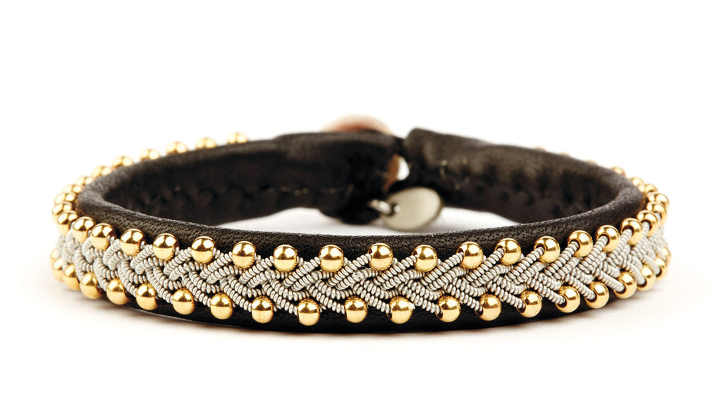 Inga Gold Beads Black