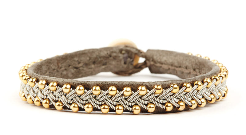 Inga Gold Beads Croco Grey