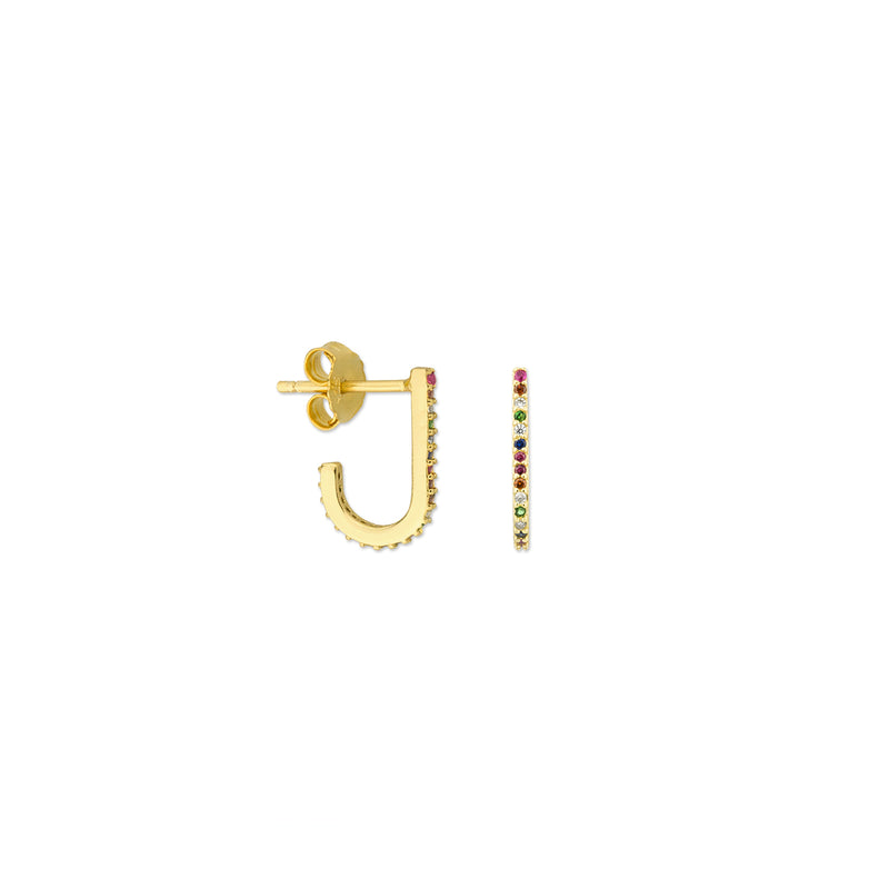 Jade Earrings - Gold