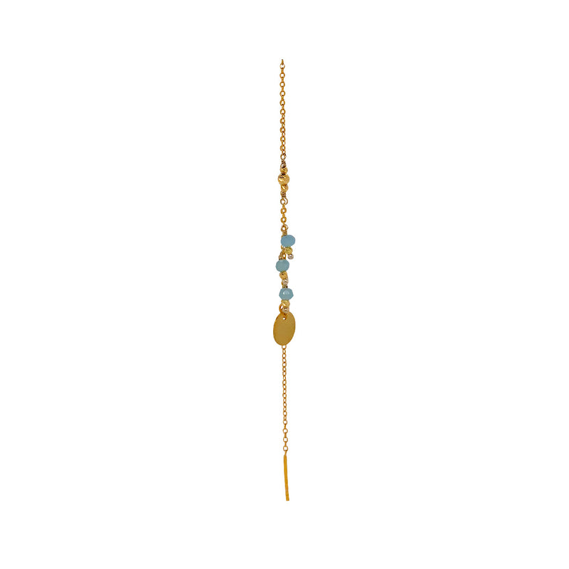 Jennifer Calcedony single Earring - Gold