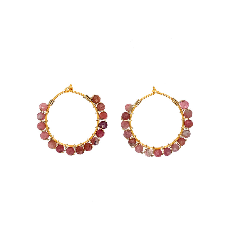 Julie Tourmaline Earrings - Gold