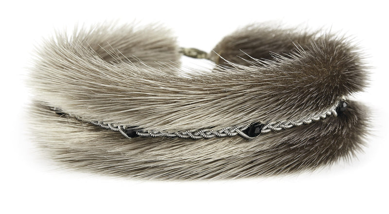 Kajsa Fur Crystal Beads
