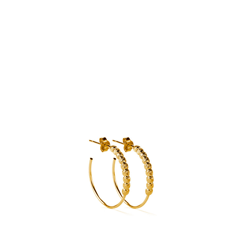 Larvik Earrings GP - 15mm