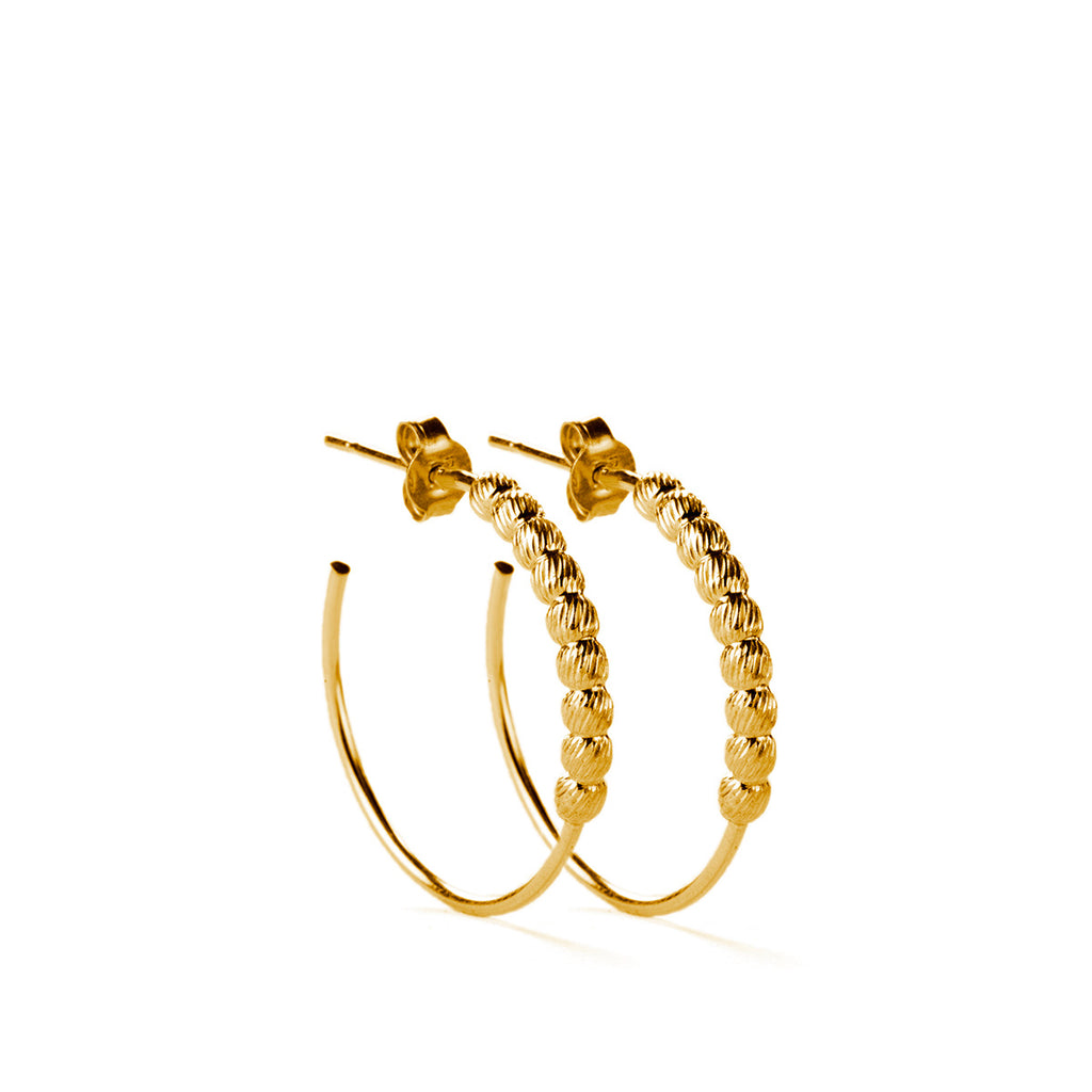 Larvik Earrings GP - 25mm