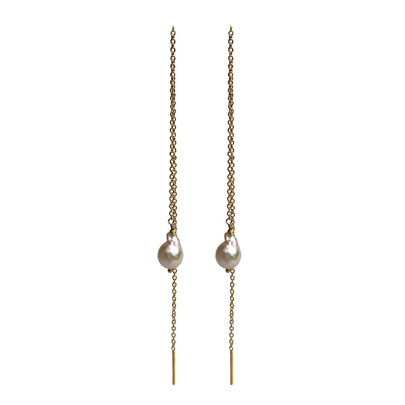 Linea Pearl Earrings GP