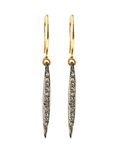 Long Pin Diamond Earrings BRP/GP