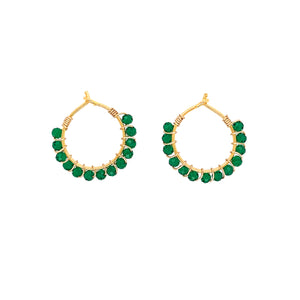 Louise Green Onyx Earrings - Gold