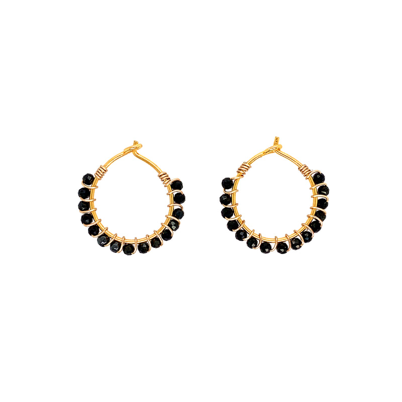 Louise Hematite Earrings - Gold