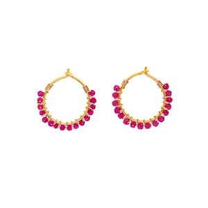 Louise Pink Spinel Earrings - Gold