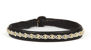 Malin Facet Gold Beads Black