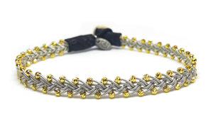 Maria Facet Gold Beads Black