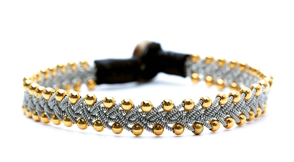 Maria Gold Beads Black
