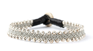 Maria Silver Beads Black