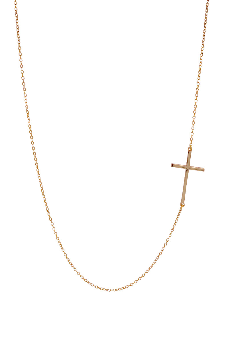 Mary Cross Necklace - Gold