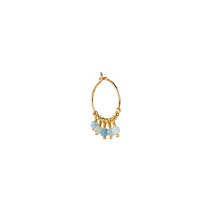 Mathilde Earring Aquamarine - Gold
