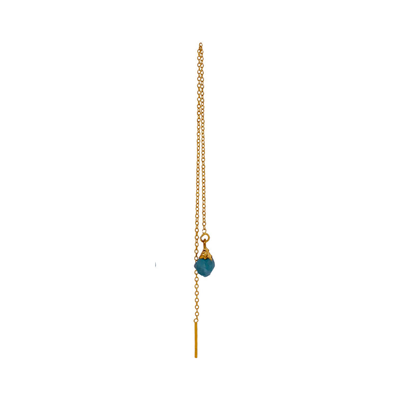 Megan Aquamarine Earring - Gold