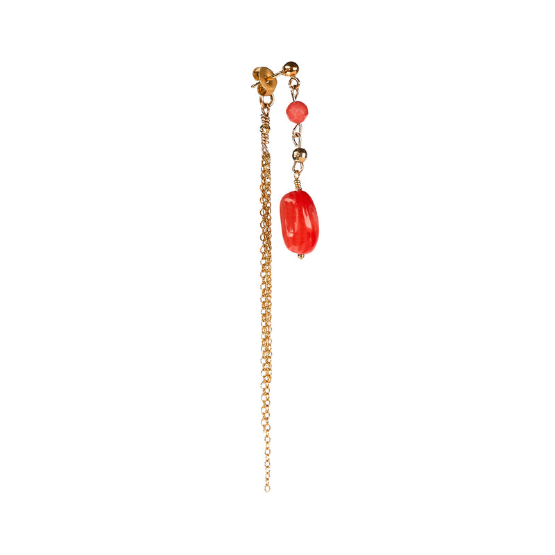 Merle Coral Earring - Gold