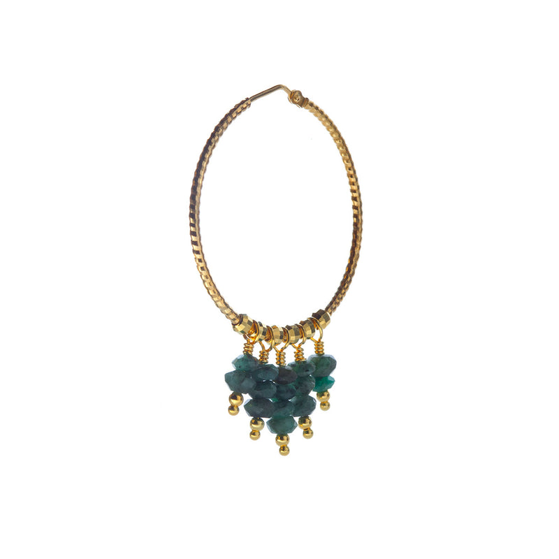 Mila Earring Emeralds - Gold