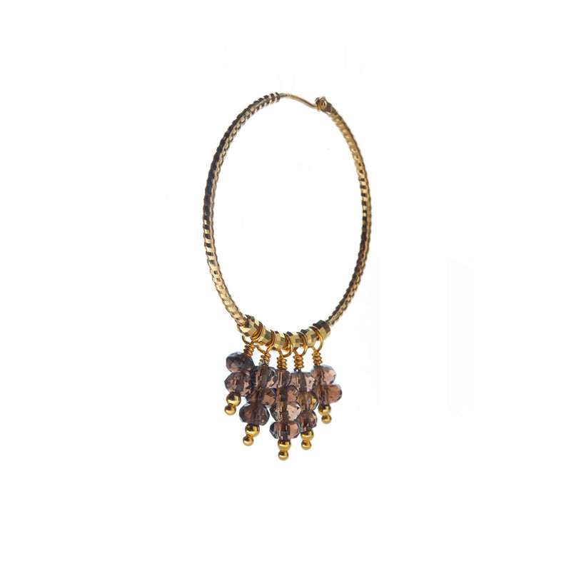 Mila Earring Smoky Quartz - Gold