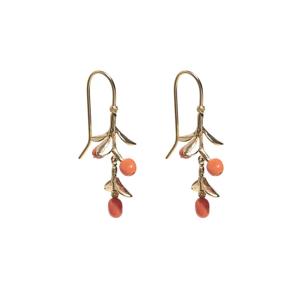 Miranda Coral Earrings - Gold