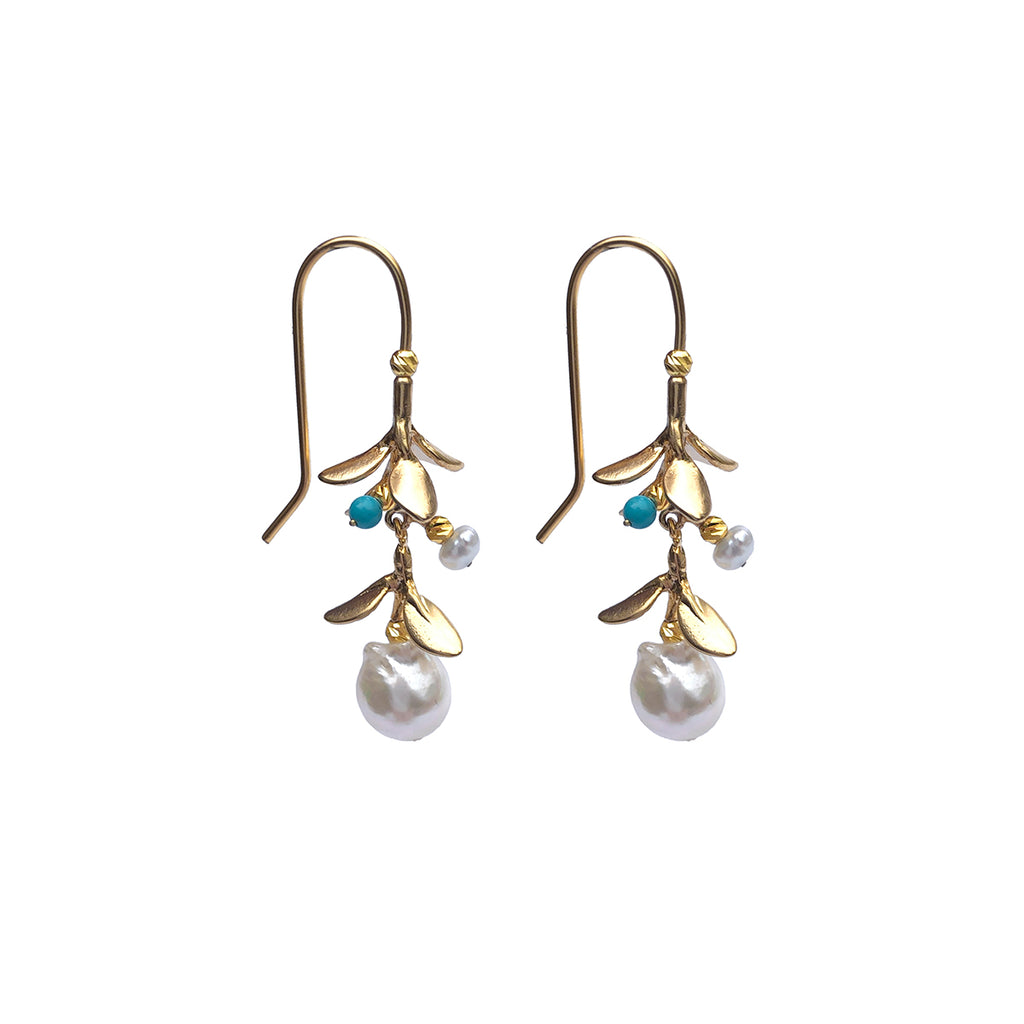 Miranda Turquoise Earrings - Gold