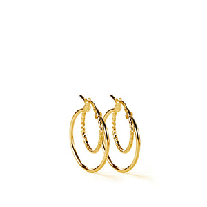 Moss Earrings GP - 30mm