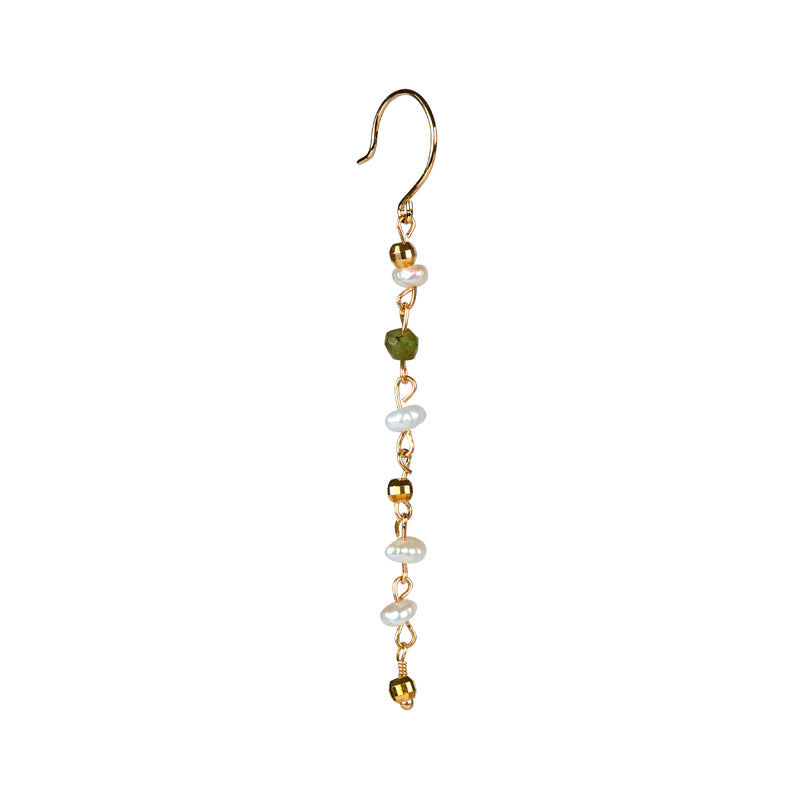 Mynte Emerald Earring - Gold