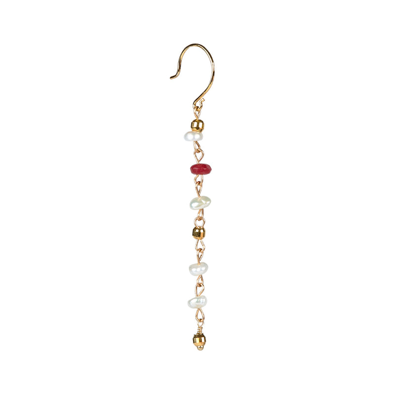Mynte Ruby Jade Earring - Gold