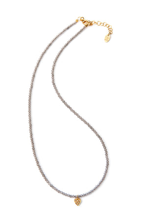 Noora Diamond Necklace - Heart GP