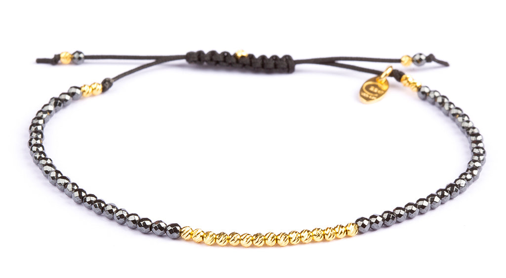 Olga Facet Hematite -  Gold