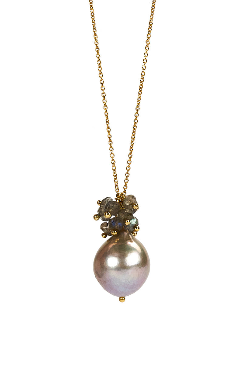 Philine Necklace Grey GP