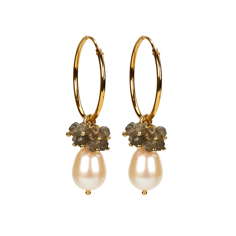 Philine Earring White GP