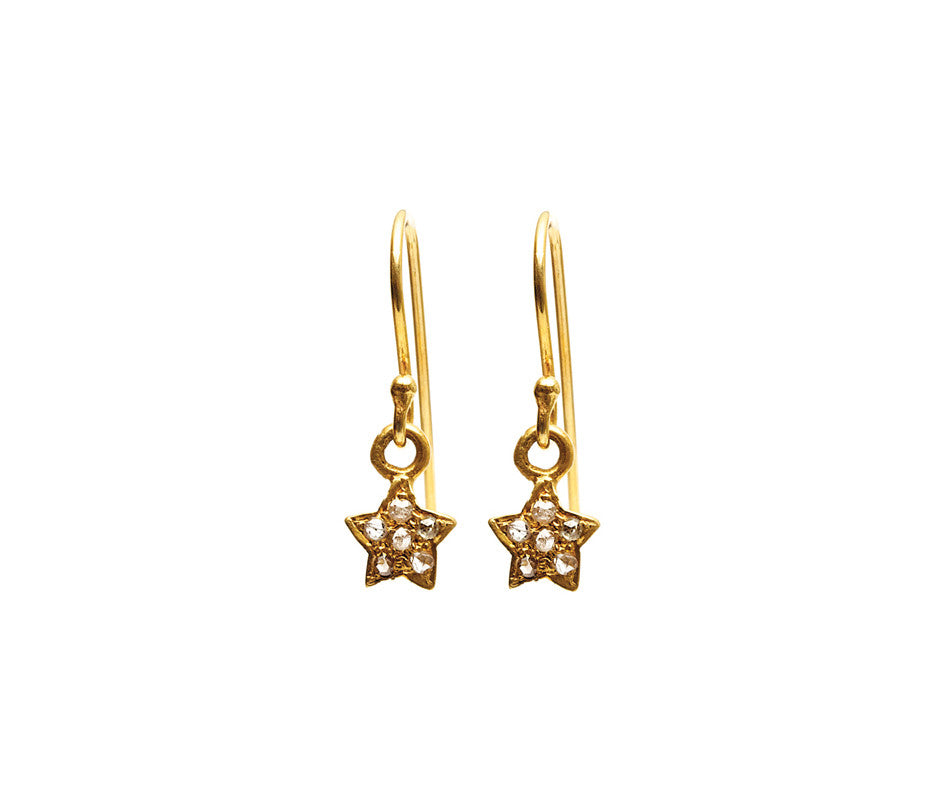 Star Diamond Earrings Hooks GP