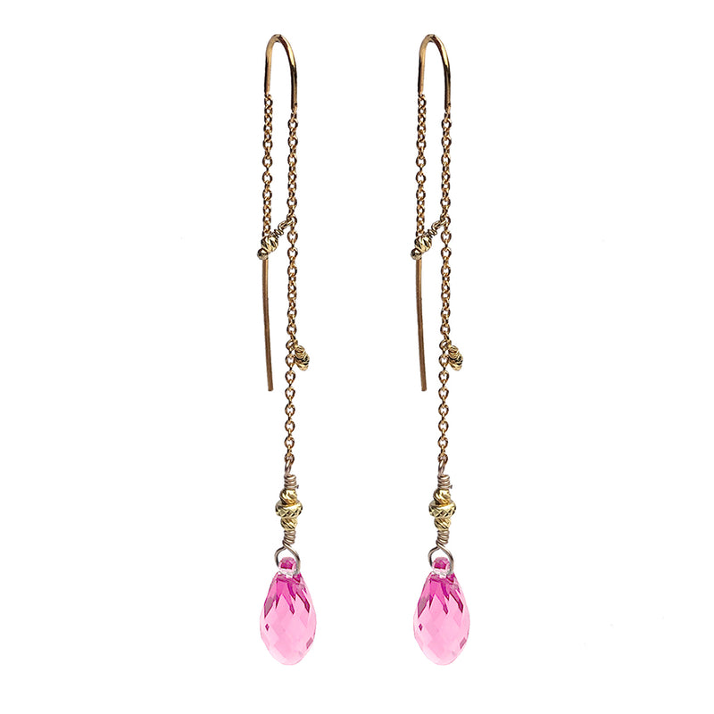 Tessie Light Rose Crystal Earrings GP