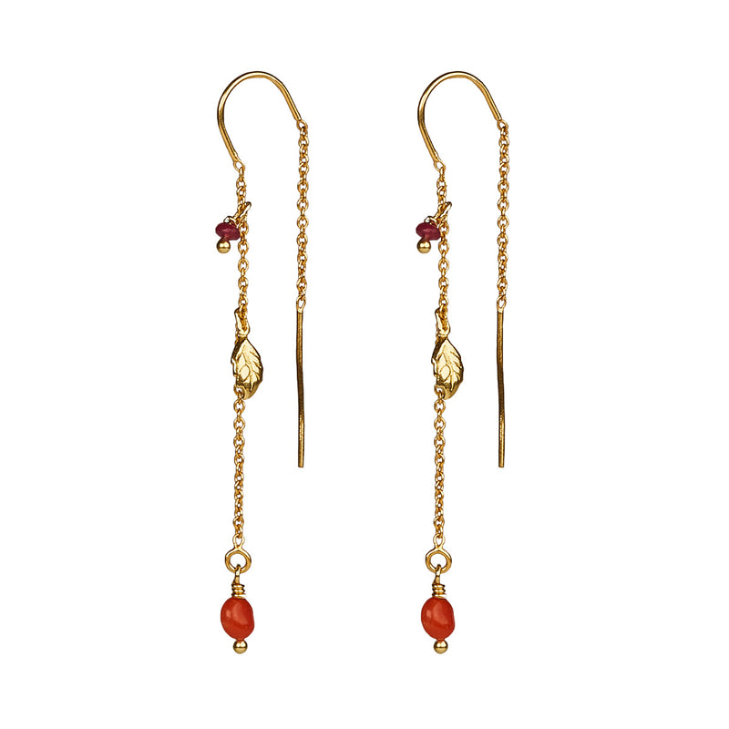 Tia Coral Earrings GP