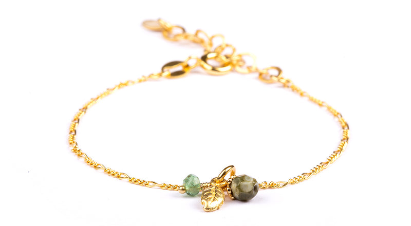 Tia Emeralds Bracelet - Gold