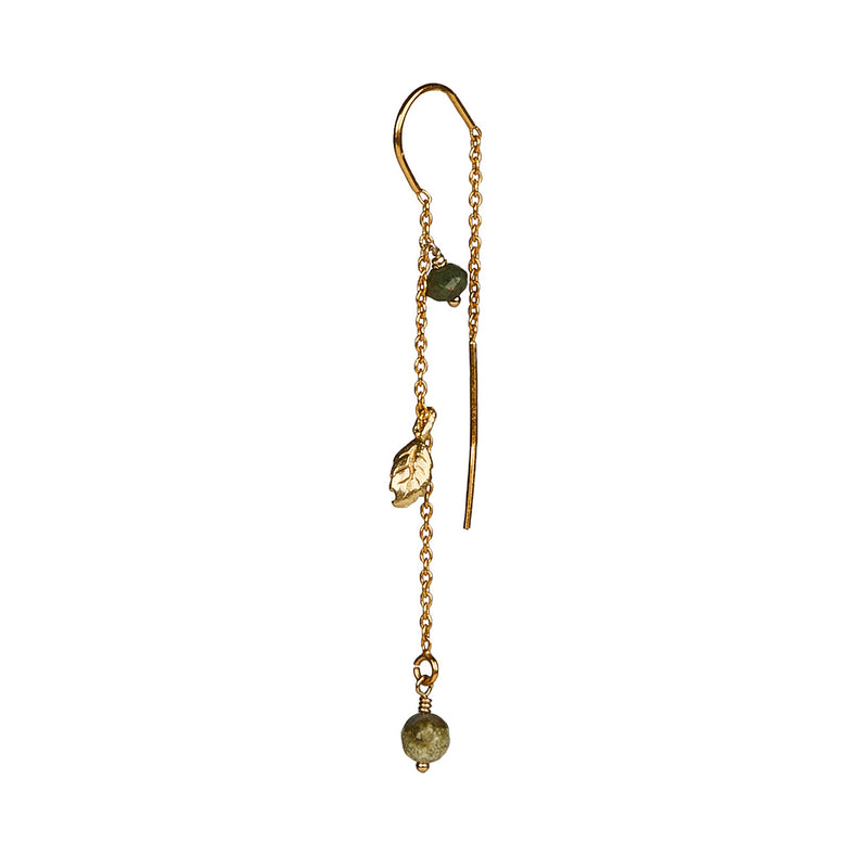 Tia Emerald Earring - Gold