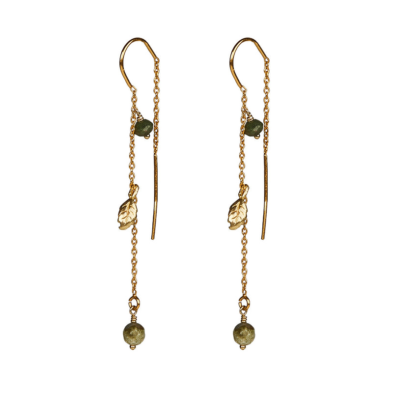 Tia Emerald Earrings - Gold