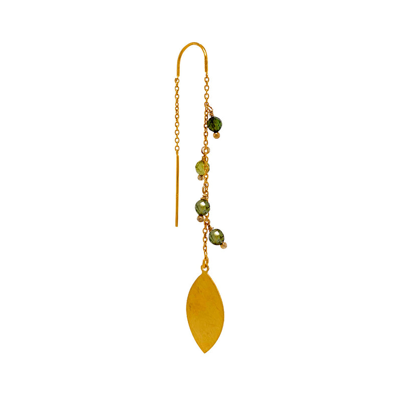 Tracy Green Tourmaline single Earring - Gold