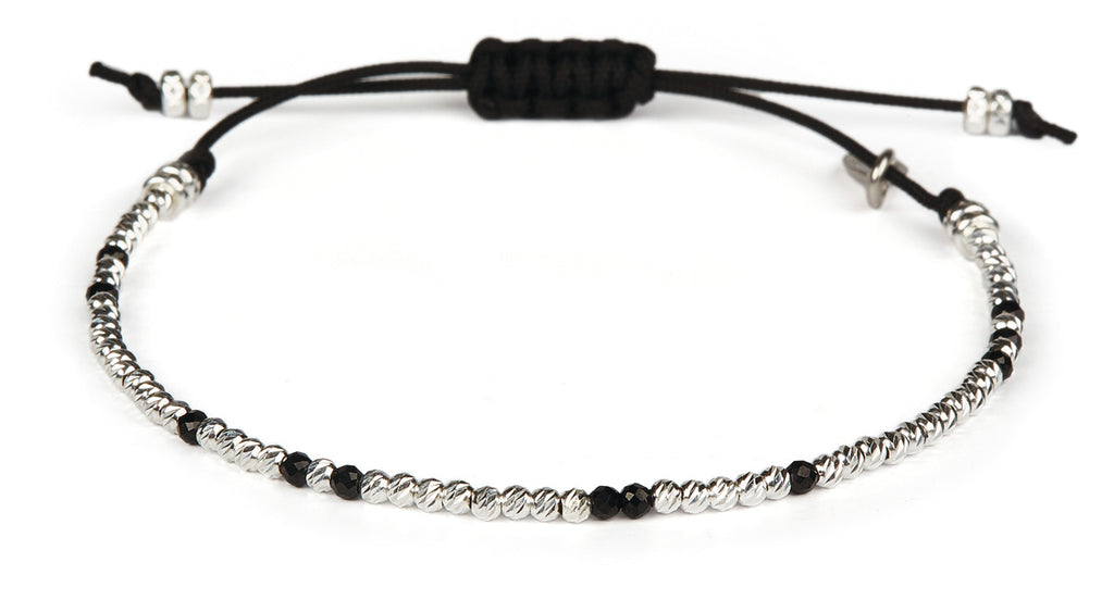 Uma Facet Black Spinel - Silver