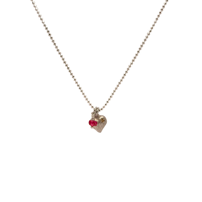 Valentine Heart Diamond Necklace