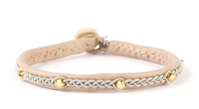 Victoria Facet Gold Beads Nude