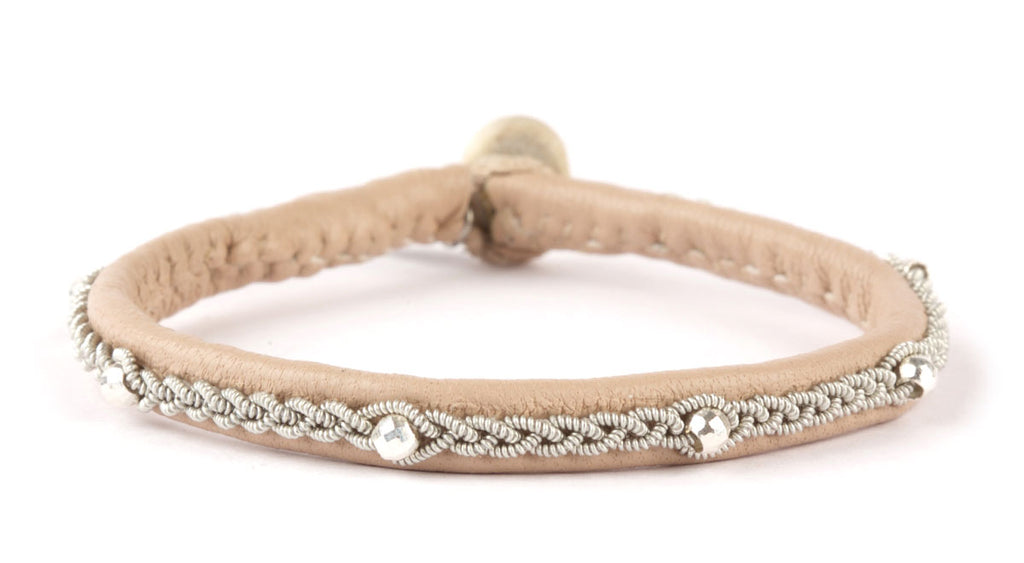 Victoria Facet Silver Beads Nude