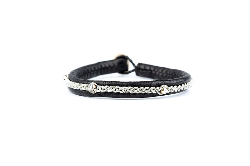 Victoria Kids Silver Beads Black