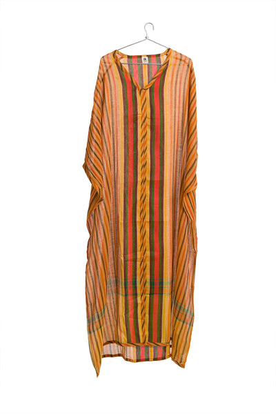 Kamli Kaftan Orange+Yellow
