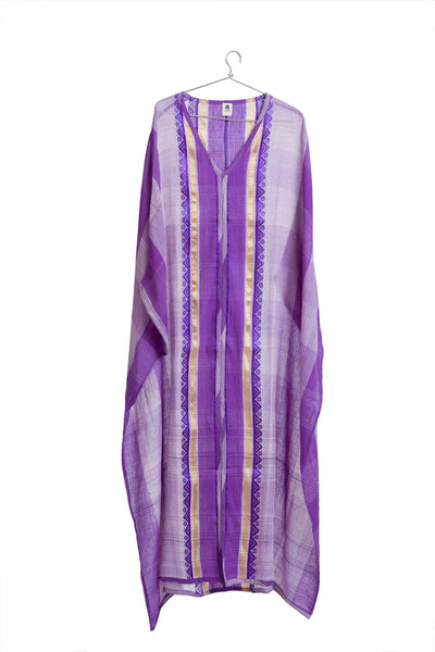 Kamli Kaftan Purple + Gold