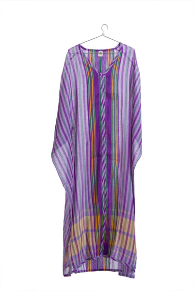 Kamli Kaftan Purple + Yellow
